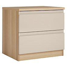 Buy House by John Lewis Mix it 2 Drawer Bedside Chest, House Putty/Natural Oak Online at johnlewis.com