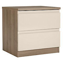 Buy House by John Lewis Mix it 2 Drawer Bedside Chest, House Putty/Grey Ash Online at johnlewis.com