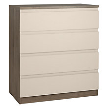 Buy House by John Lewis Mix it Wide 4 Drawer Chest, House Putty/Grey Ash Online at johnlewis.com