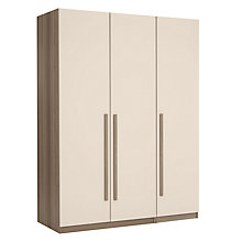 Buy House by John Lewis Mix it Block Handle Triple Wardrobe, House Putty/Grey Ash Online at johnlewis.com