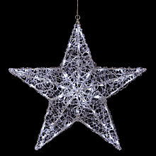 Buy John Lewis Acrylic Light Star Decoration Online at johnlewis.com