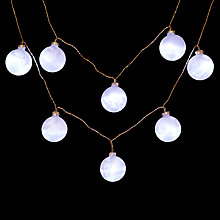 Buy John Lewis Indoor Frosted Glass LED Bauble Lights, Warm White, x10 Online at johnlewis.com