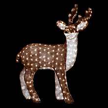 Buy John Lewis Acrylic 100cm Reindeer, Brown/White Online at johnlewis.com