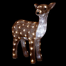 Buy John Lewis 60cm Acrylic Reindeer Light, Brown/White Online at johnlewis.com