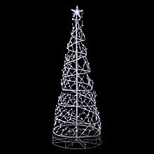 Buy John Lewis Outdoor Spiral Tree Light, White Online at johnlewis.com
