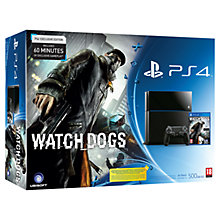 Buy Sony PS4 Console with Watch Dogs with PlayStation Plus - 365 Day Subscription Online at johnlewis.com