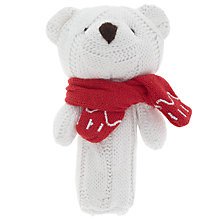 Buy John Lewis Polar Bear Squeaker Toy, White Online at johnlewis.com