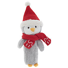 Buy John Lewis Penguin Squeaker Toy, Grey Online at johnlewis.com
