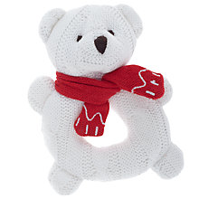 Buy John Lewis Polar Bear Ring Rattle, White Online at johnlewis.com