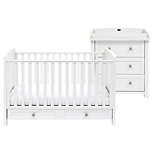 Buy Silver Cross Nostalgia Cotbed and Dresser, Antique White/Black Online at johnlewis.com