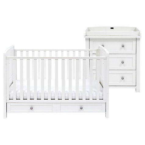 Buy Silver Cross Nostalgia Cotbed and Dresser, Antique White/Silver Online at johnlewis.com