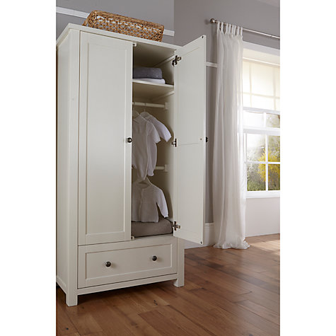 Buy Silver Cross Nostalgia Wardrobe, Antique White/Silver Online at johnlewis.com