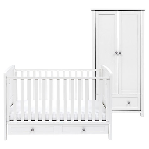 Buy Silver Cross Nostalgia Cotbed and Wardrobe Set, Antique White/Silver Online at johnlewis.com