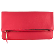 Buy Jaeger Harper Leather Foldover Clutch Bag Online at johnlewis.com