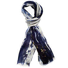 Buy Chesca Ocean Soft Print Scarf, Blue Online at johnlewis.com