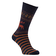 Buy JOHN LEWIS & Co. Reindeer Socks, One Size Online at johnlewis.com