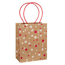 Buy John Lewis Kraft Foil Confetti Gift Bag, Small, Multi Online at johnlewis.com