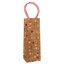 Buy John Lewis Kraft Foil Gift Bag, Confetti Red, Bottle Online at johnlewis.com