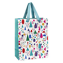 Buy John Lewis Geometric Gift Bag, Small, Multi Online at johnlewis.com
