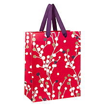 Buy John Lewis Blossom Gift Bag, Small, Red Online at johnlewis.com