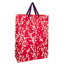 Buy John Lewis Blossom Gift Bag, Large, Red Online at johnlewis.com