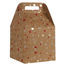 Buy John Lewis Kraft Foil Confetti Gift Box, Large, Multi Online at johnlewis.com