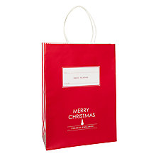 Buy John Lewis Merry Christmas Stripe Gift Bag, Large Online at johnlewis.com