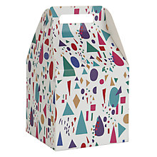 Buy John Lewis Geometric Gift Box, Multi, Small Online at johnlewis.com