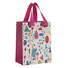 Buy John Lewis Geometric Gift Bag, Mini, Multi Online at johnlewis.com
