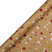 Buy John Lewis Kraft Foil Confetti Spot Gift Wrap, 1.5m Online at johnlewis.com
