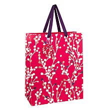 Buy John Lewis Blossom Gift Bag, Medium, Red Online at johnlewis.com