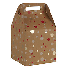 Buy John Lewis Kraft Foil Confetti Gift Box, Small, Multi Online at johnlewis.com