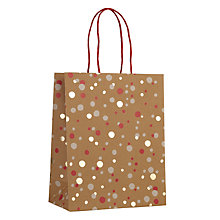 Buy John Lewis Kraft Foil Confetti Medium Gift Bag, Red Online at johnlewis.com