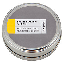 Buy John Lewis Shoe Polish, Black Online at johnlewis.com