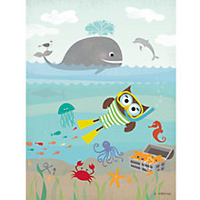 Buy Happy Spaces Snorkel Canvas Print Online at johnlewis.com