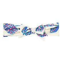 Buy John Lewis Flowered Fruit Print Headscarf, Purple/White Online at johnlewis.com