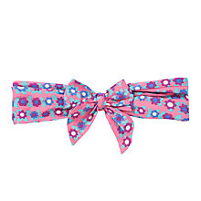 Buy John Lewis Flowered Fruit Headscarf, Pink/Multi Online at johnlewis.com