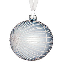 Buy John Lewis Sparkle Bauble, Blue/Silver Online at johnlewis.com