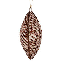 Buy John Lewis Rustic Woven Finial Bauble, Gold Online at johnlewis.com