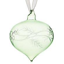 Buy John Lewis Croft Collection Etched Glass Onion, Green Online at johnlewis.com