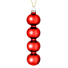 Buy John Lewis Multi Ball Drop Decoration, Red Online at johnlewis.com