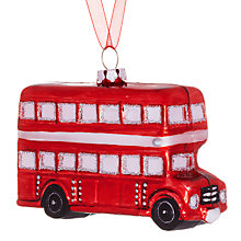 Buy John Lewis Glass London Bus Decoration, Red Online at johnlewis.com