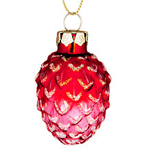 Buy John Lewis Pinecone Bauble, Red Online at johnlewis.com