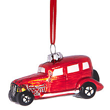 Buy John Lewis Vintage Car Decoration, Red Online at johnlewis.com