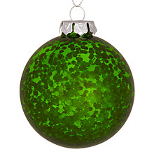 Buy House by John Lewis Sequin Bauble, Green Online at johnlewis.com