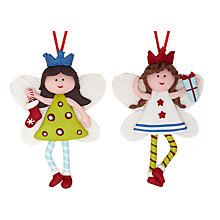 Buy John Lewis Claydough Fairy Decoration, Assorted Online at johnlewis.com
