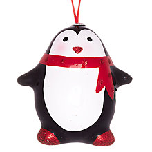 Buy John Lewis Plastic Penguin Decoration, Multi Online at johnlewis.com