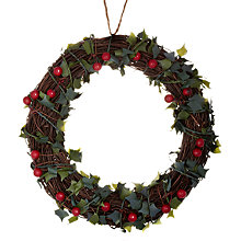 Buy John Lewis Holly and Berry Wreath Online at johnlewis.com
