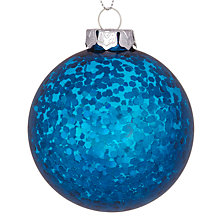 Buy House by John Lewis Sequin Bauble, Blue Online at johnlewis.com