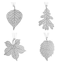 Buy John Lewis Croft Collection Laser Cut Metal Leaf Decoration, Assorted, Silver Online at johnlewis.com
